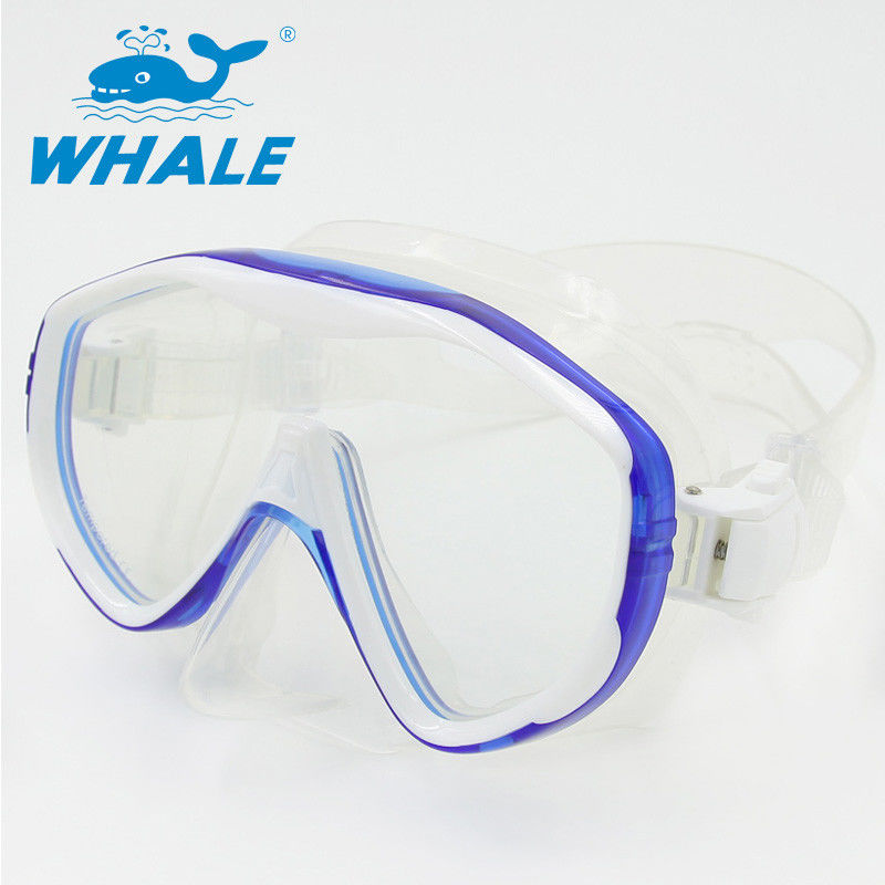 Flexible Silicone Adult Snorkel Mask / Low Volume Dive Mask For Swimming And Diving