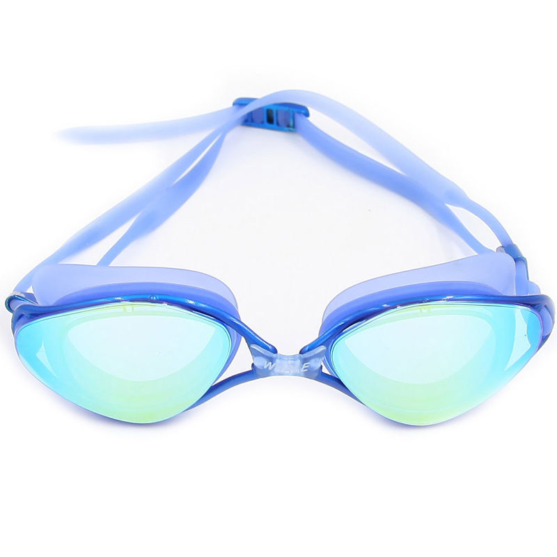 3 Interchangeable Nose Piece Anti Fog Swim Goggles With Clear Wide Vision