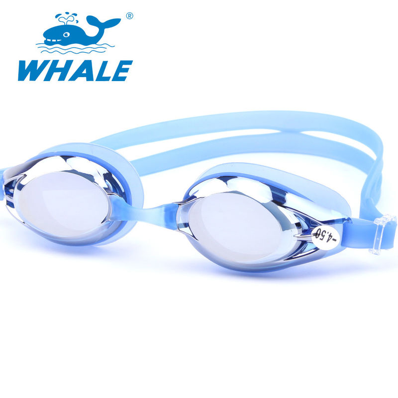 Dark Tinted Corrective Nearsighted Swimming Goggles With High Quality Molded Optical Lenses