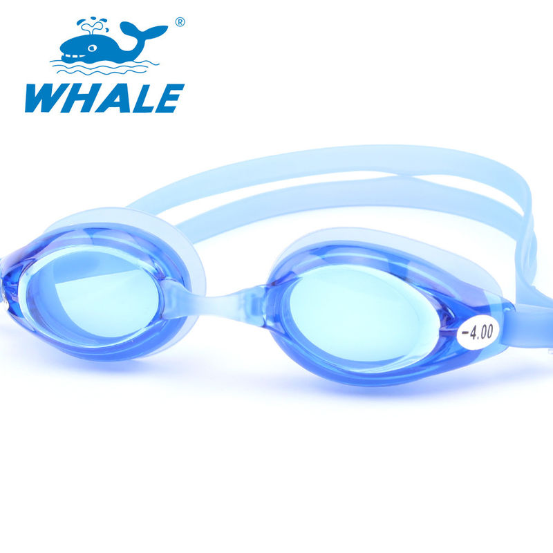 Anti Fog UV Protection Optical Swimming Goggles Blue Color With 3 Size Nose Piece