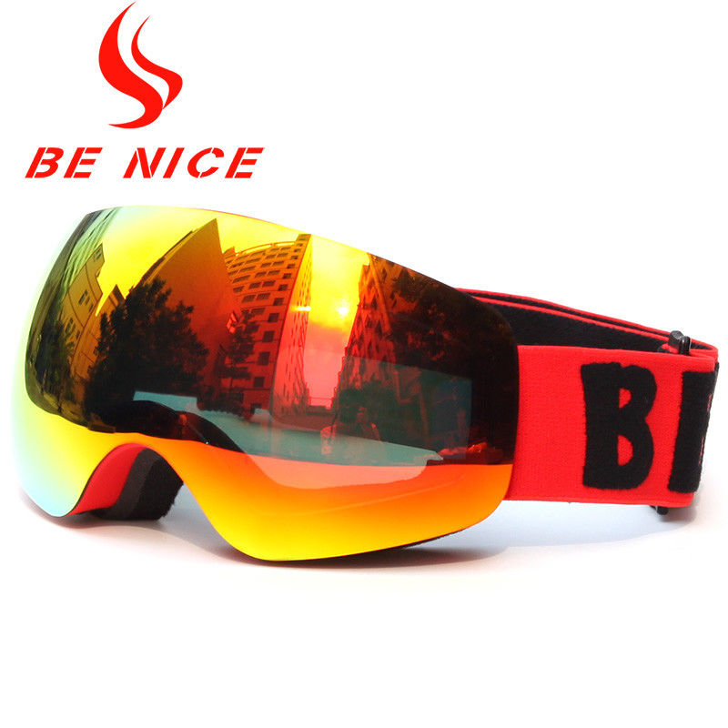 Anti Ultraviolet Radiation Kids Junior Ski Goggles With Three Layers Form