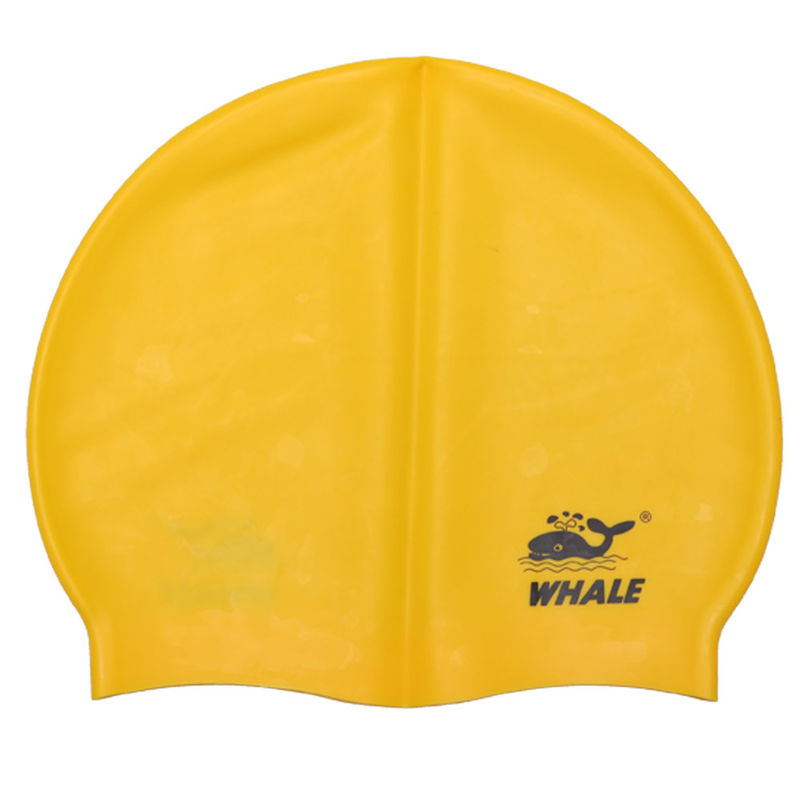 Yellow Adult Silicone Swimming Caps With Protects Skin And Hair From Chlorine
