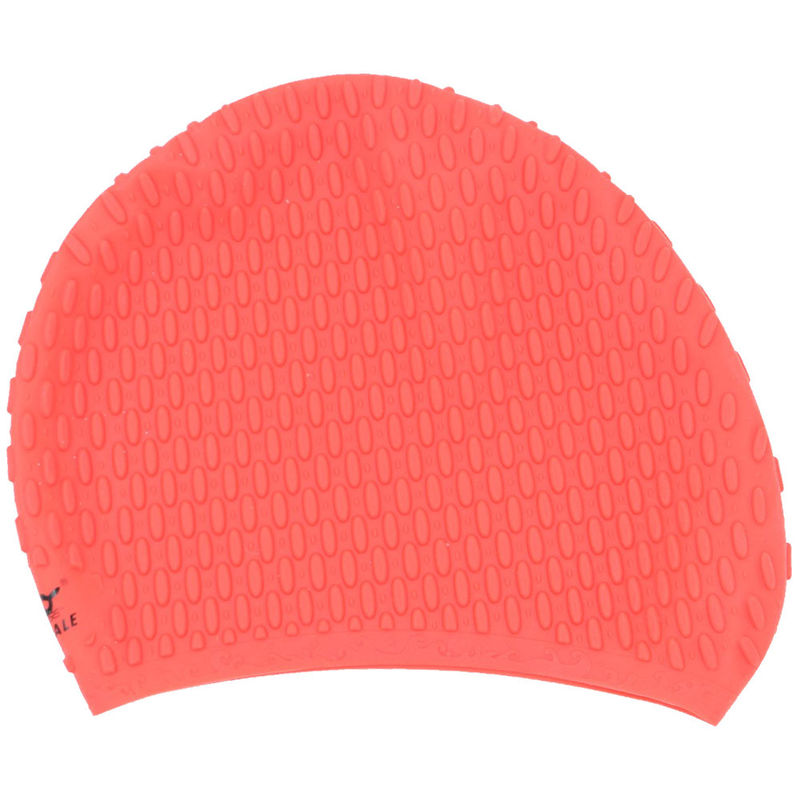 Elasticity Silicone Swim Cap With Ear Pockets , Soft Swimming Hats 190 * 190 Mm Dimensions