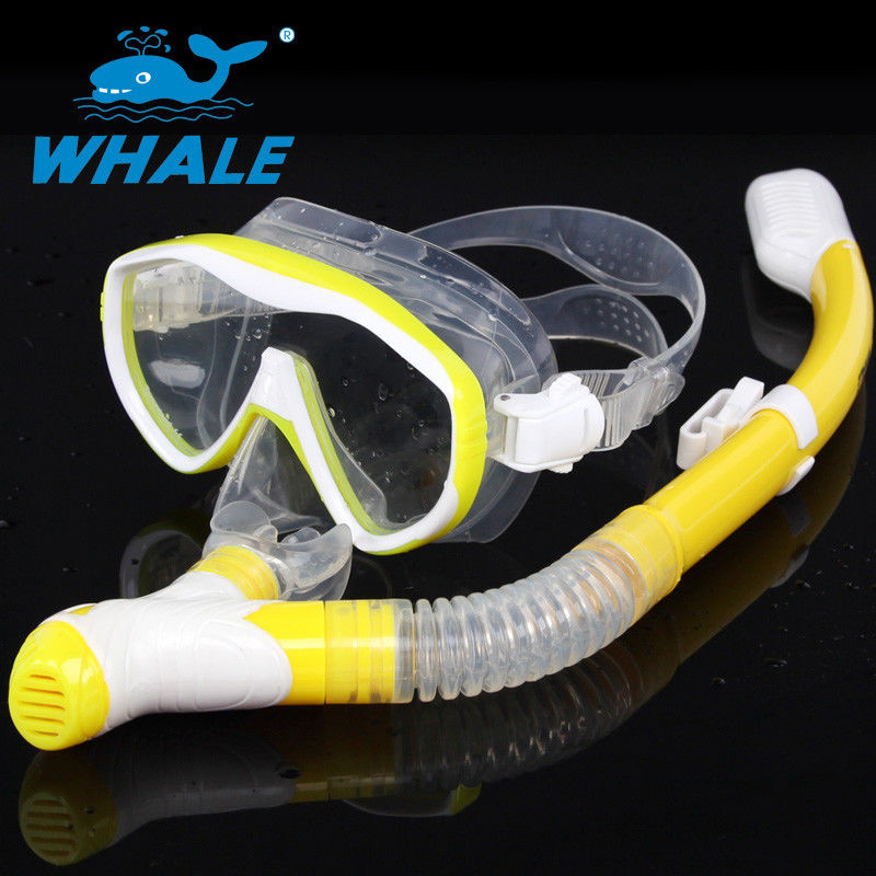 Easy Breathing Snorkel Mask Set Silicone Mask Skirt With Safety Water Repellent
