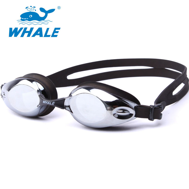 UV 400 Protection Silicone Swimming Goggles Mirror Lens , 3D Ergonomic Design