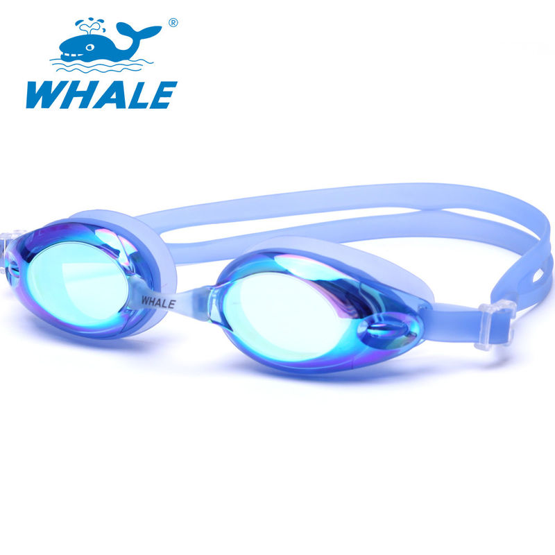 Colorful Shatterproof Silicone Swimming Goggles Without Pulling Hair