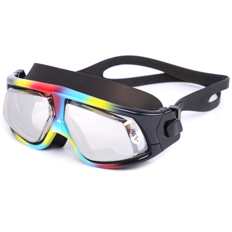 UV Protection Corrective Optical Swim Goggles , Clear Lens Swimming Goggles
