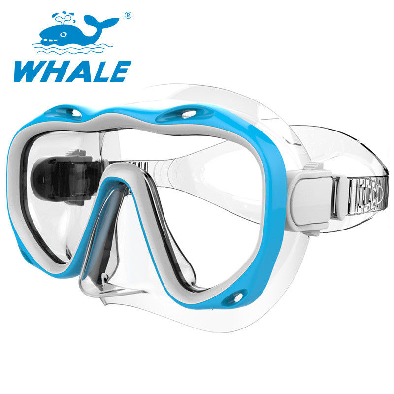 Wide View Silicone Diving Mask Distortion Free With Tempered Glass Lens
