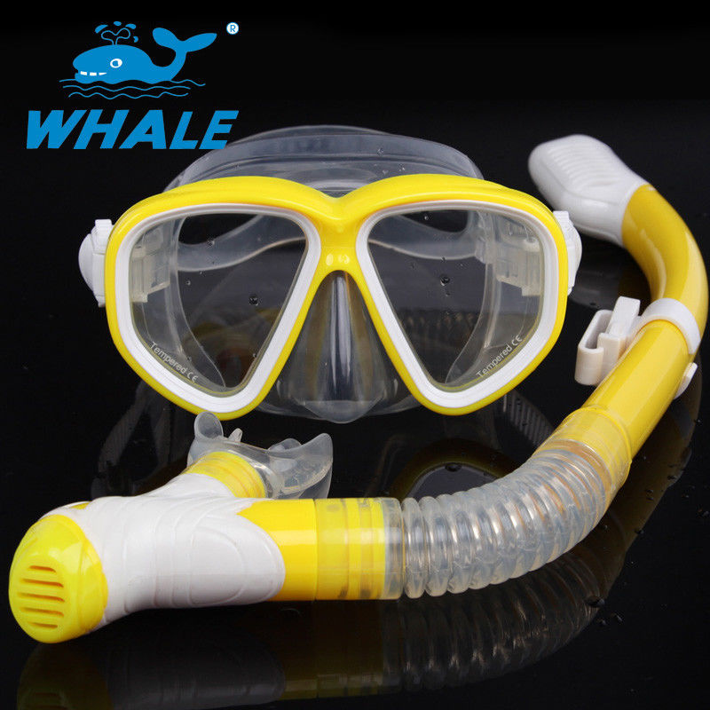 Purge Valve Swim Mask Snorkel Set With Soft Silicone Mouthpiece , Silicone Strap