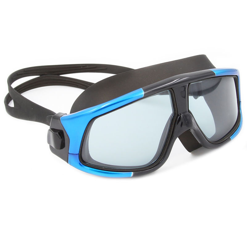Black Blue Adult Silicone Swimming Goggles Mask Advanced Anti - Fog
