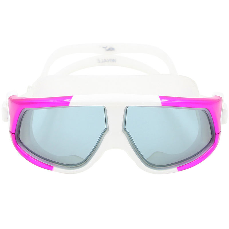 Large Frame Colorful Silicone Swimming Goggles PC Lens Silicone Eye Seals