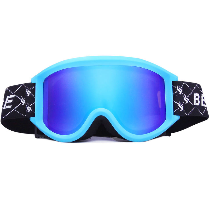 Simple Adult Gold Ski And Snowboard Goggles With Solid Impact Resistance
