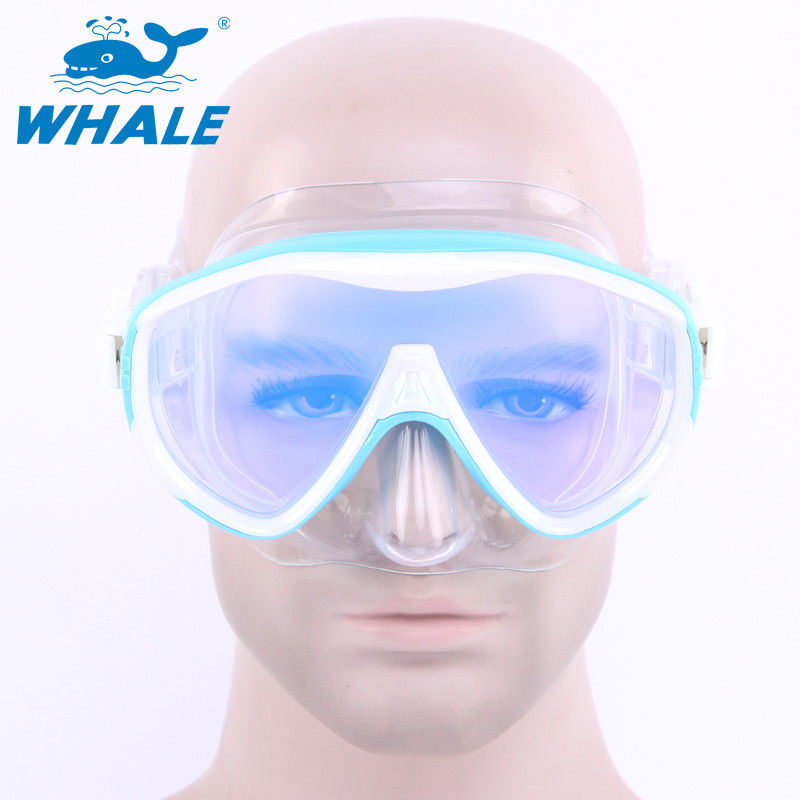 Tempered Anti Fog Lens Glasses Silicone Diving Mask , Underwater Diving Mask