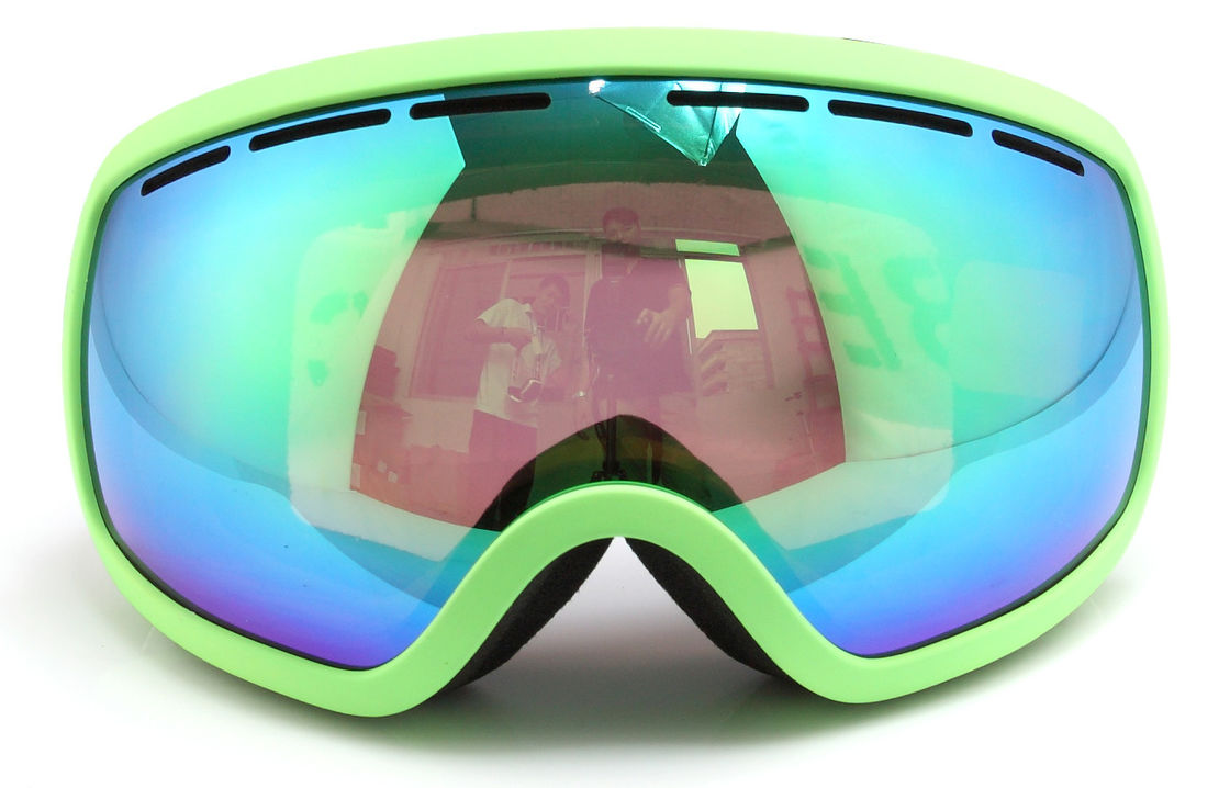 Windproof Snow Ski Goggles with Three Layer Foam / Ladies Otg Ski Goggles