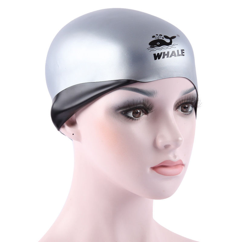 Premium Reversible Wrinkle Free Cute Silicone Swim Caps For Men and Women