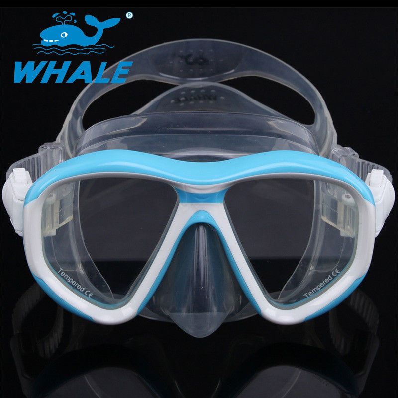 Anti - Fogging Silicone Diving Mask Tempered Glass Clear View Scuba Diving Mask