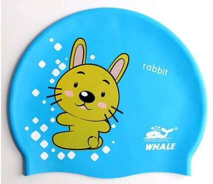Lovely Cute Cartoon Silicone Swimming Caps For Children , Boys , Girls