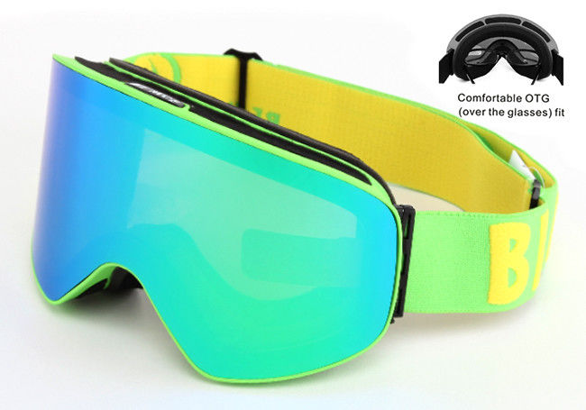 Interchangeable Lens Multi Coloured Ski Goggles Anti - Winds With Good Protection